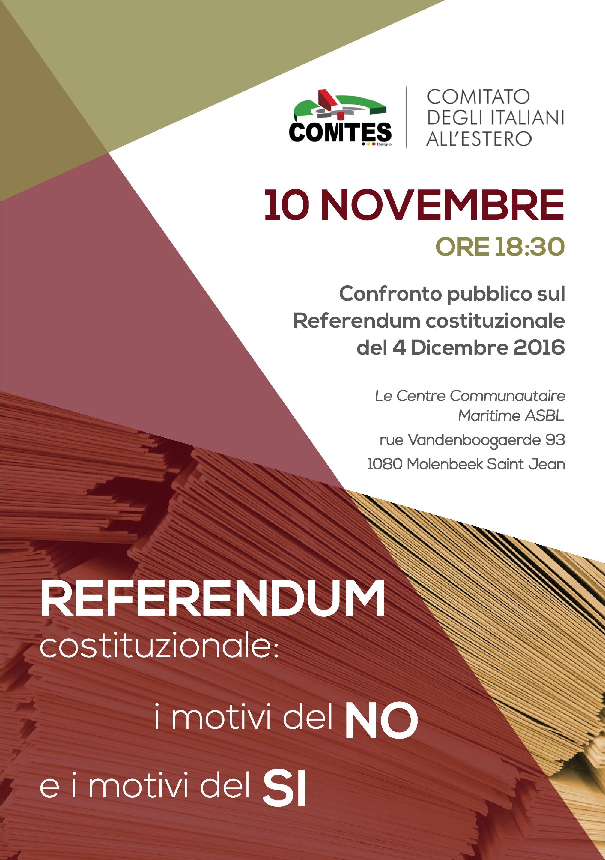 Confronto pubblico sul Referendum costituzionale