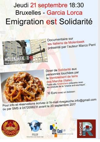 """Iniziativa """"Emigrazione e Solidarietà"""""""