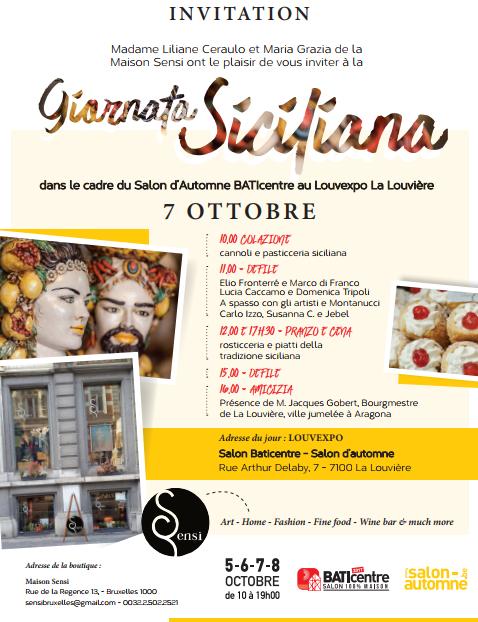 INVITO: Giornata Siciliana – sabato 7 ottobre 2017 – La Louvière