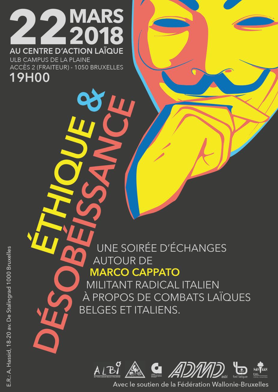 Éthique et désobéissance | Soirée avec Marco Cappato | Le 22 mars à 19h