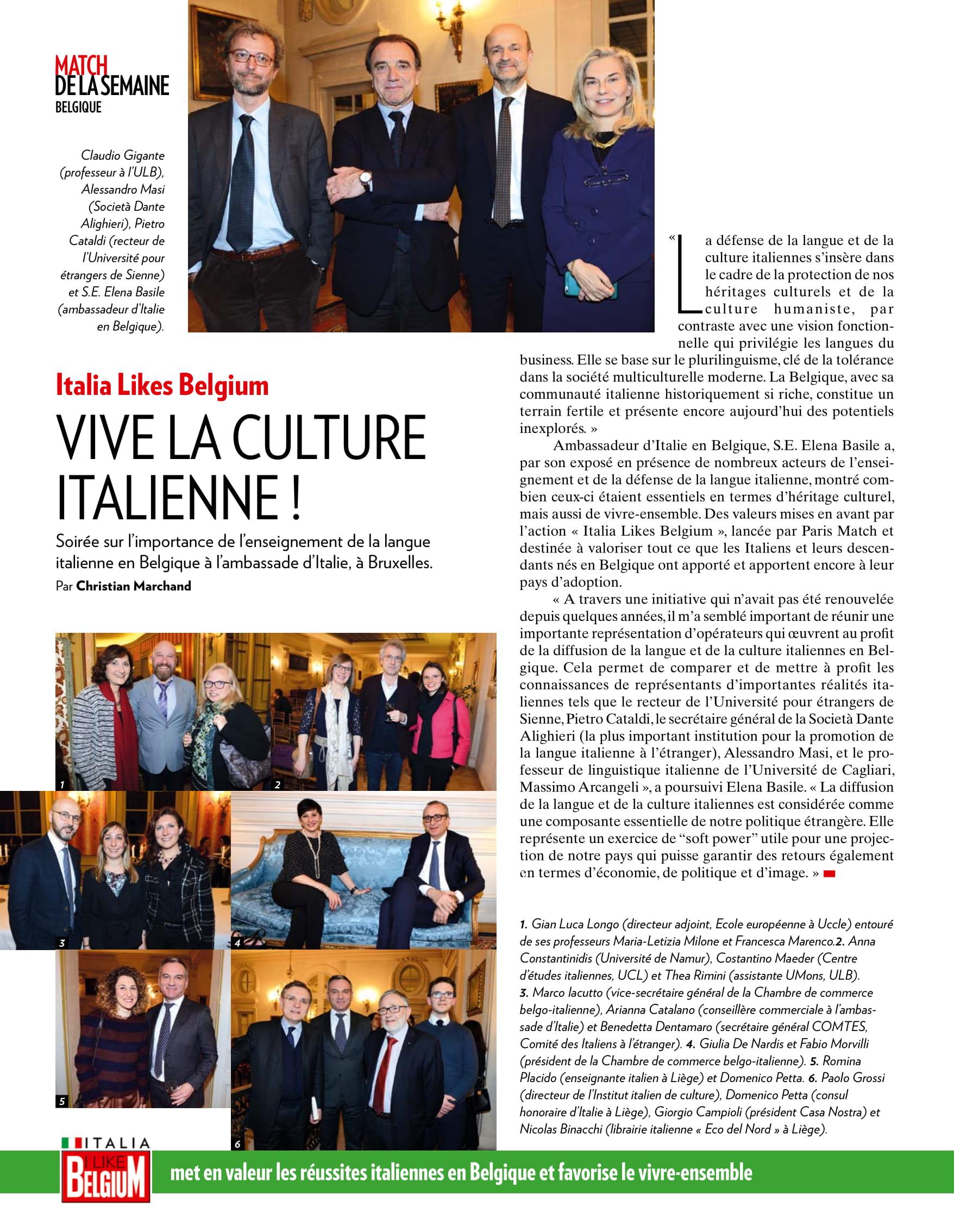 Articolo Paris Match – Riunione lingua italiana 21 marzo