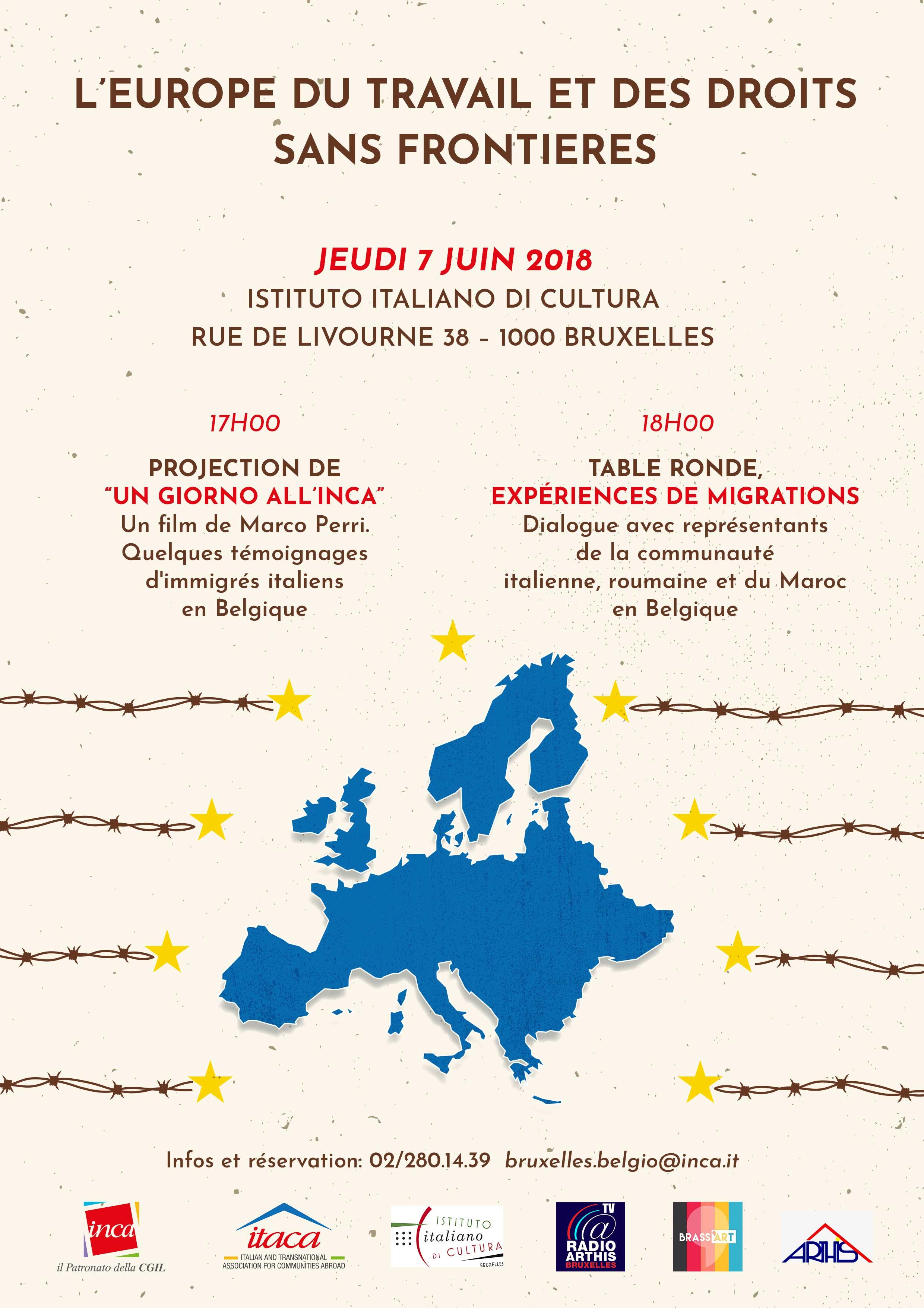 """Invito – """"L'Europa del lavoro e dei diritti, senza frontiere"""""""