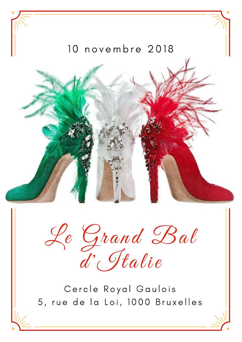 Le Grand Bal d'Italie 2018 : 10 novembre Cercle Gaulois Royal