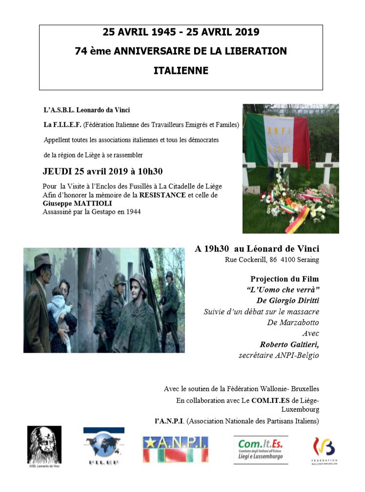 74ème anniversaire de la liberation italienne