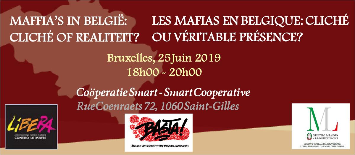 Invitation: 'Les Mafias en Belgique' – 25 juin 2019