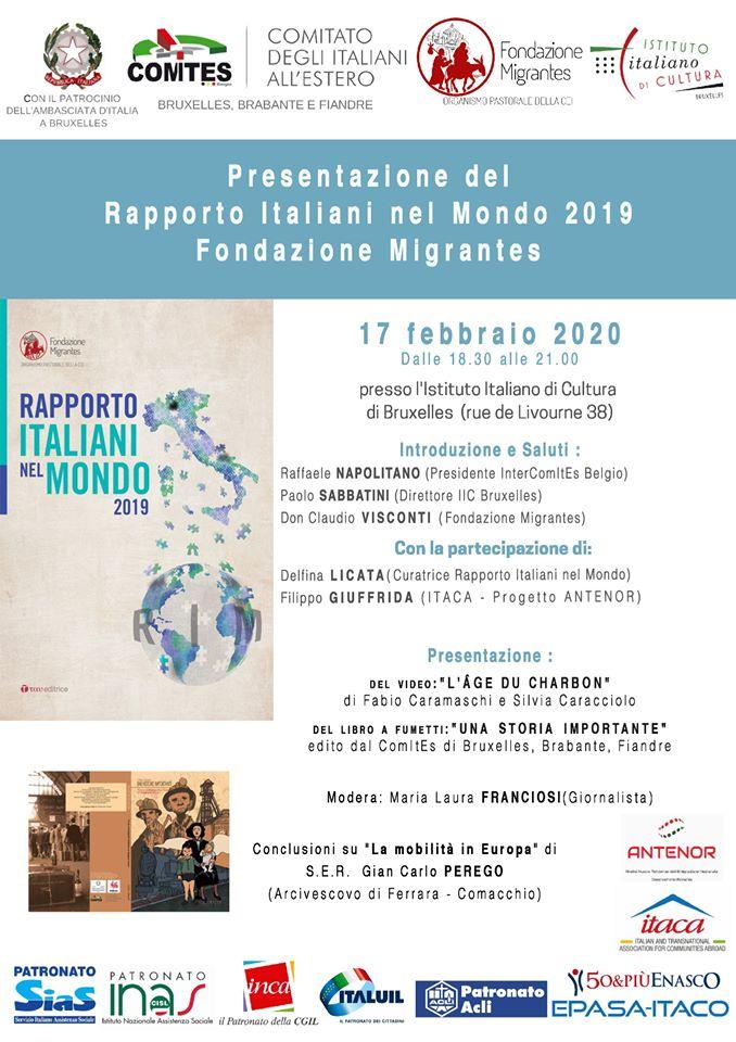 Il Rapporto Italiani nel Mondo a Bruxelles (AISE)
