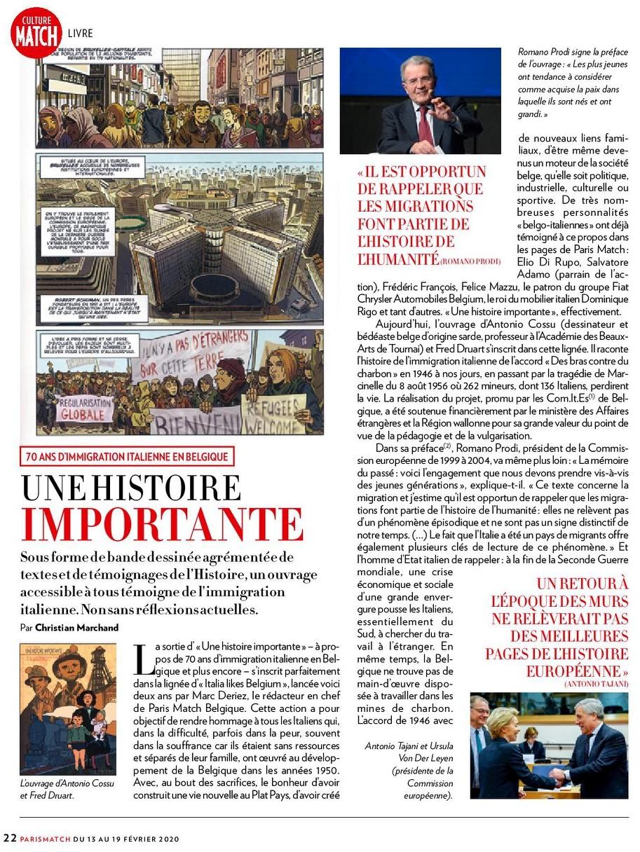 70 ans d'immigrations italienne en Belgique, une histoire importante / Paris Match Belgique