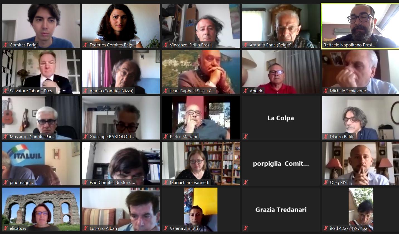 Grande successo per il primo incontro virtuale tra i Comites europei