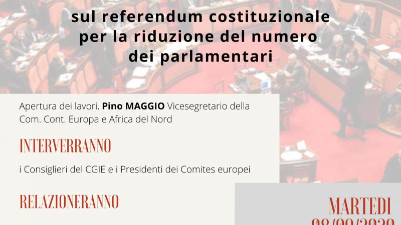 Webinar conclusivo sul referendum constituzionale – 8/09/2020 ore 19