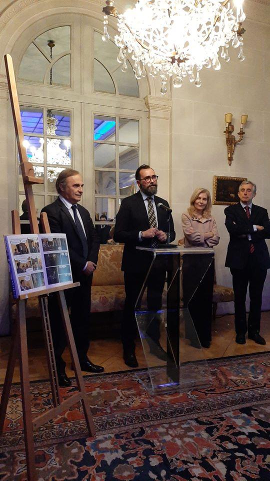 Presentazione del fumetto sulla storia dell'immigrazione italiana in Belgio presso l'Ambasciata d'Italia a Bruxelles
