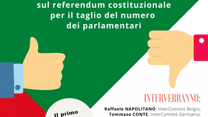 Webinar informativo sul referendum costituzionale – 5 settembre ore 10.30
