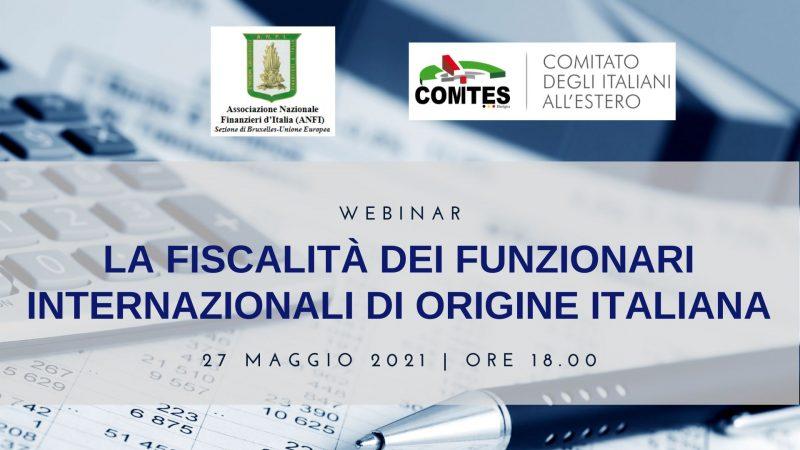 Webinar – La fiscalità dei funzionari internazionali di origine italiana